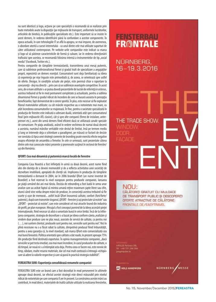 Articol QFORT Revista Fereastra decembrie 2015