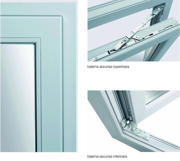 Balamale ascunse pentru usi si ferestre din PVC