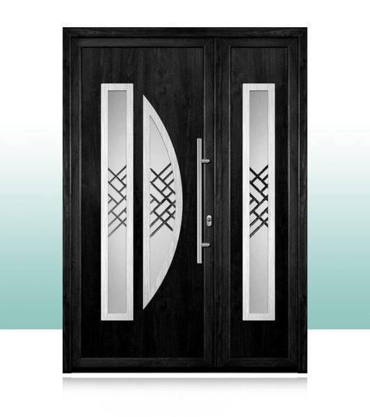 Usile de intrare din PVC cu paneluri ornamentale din gama Ba