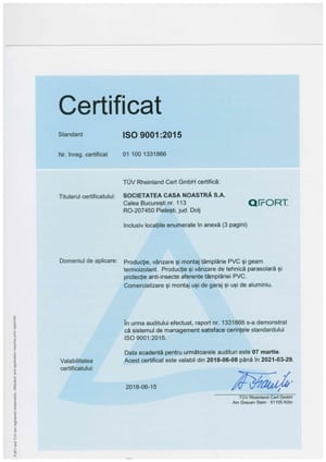 QFort - ISO 9001 - 2015