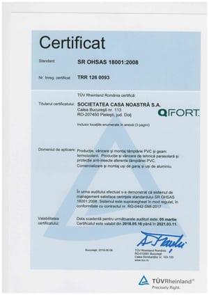 QFort - OHSAS 18001-2008