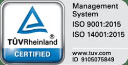Certificare ISO TUV Rheinland